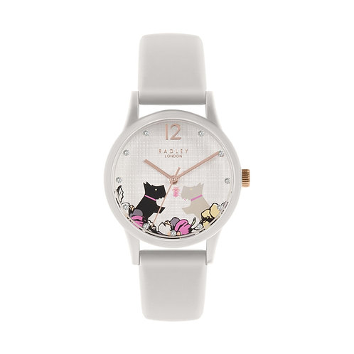 RADLEY Ladies Say it with Flowers White Silicone Strap Watch - RY2819