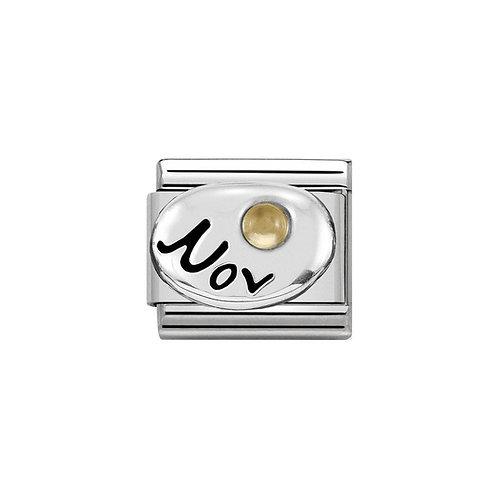 Nomination Silvershine September Birthstone Charm Link - 330505/11