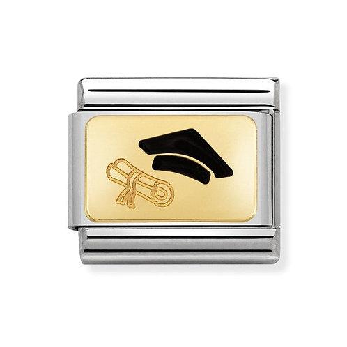 Nomination Gold Classic Graduation Charm Link - 030284/27