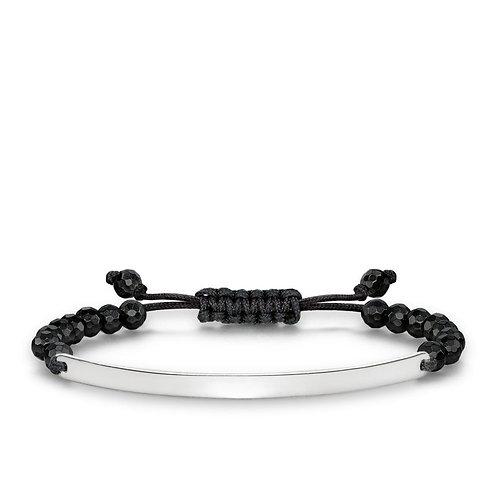 Thomas Sabo Love Bridge Black Obsidian Bracelet - LBA0002-827-11