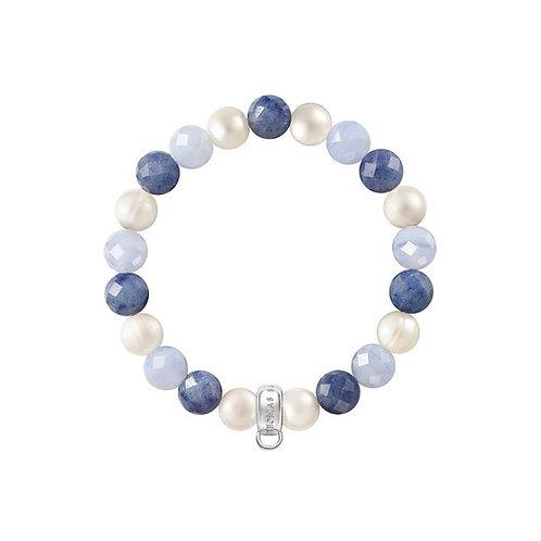 Thomas Sabo Blue Multi Bead Charm Bracelet - X0210-772-7
