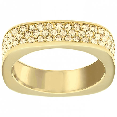 SWAROVSKI Vio Gold Tone Ring Clear Crystal