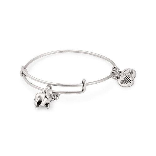 Alex and Ani Rafaelian Silver 'Lucky Elephant' Charm Bangle - A17INTELPRS