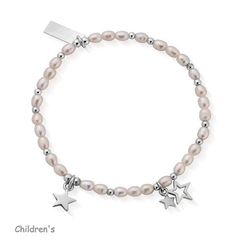 ChloBo Silver Children's Confetti Falls Star Bracelet - SBLLMAGIC15