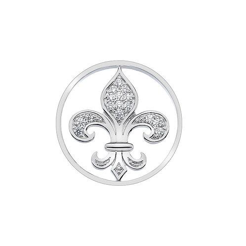 Emozioni by Hot Diamonds Fleur De Lis Clear CZ Coin - EC327