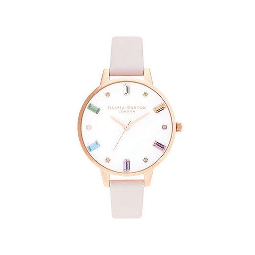 Olivia Burton Rainbow Blossom and Rose Gold Watch - OB16RB22