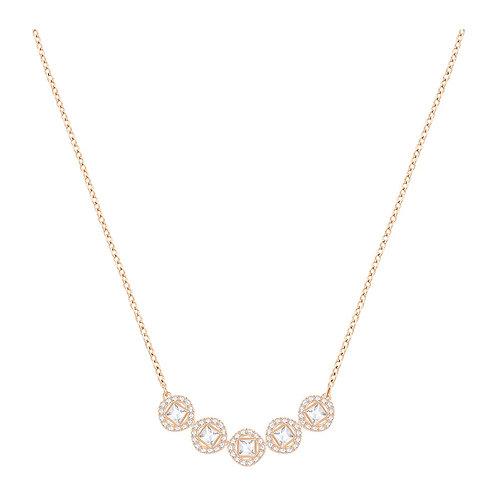 SWAROVSKI Rose Gold Tone Angelic Square Necklace  - 5351305