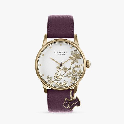 RADLEY Ladies Purple Leather Strap Watch - RY2688