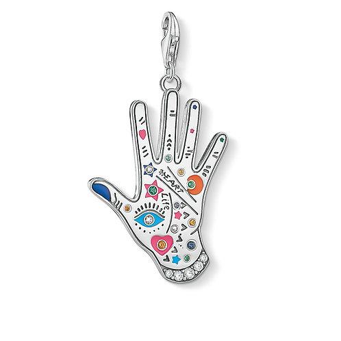 Thomas Sabo Silver Vintage Hand Pendant Charm - Y0051-845-7