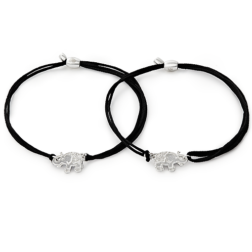 Alex and Ani Kindred Cord Twin Elephants -A17KCSETELES