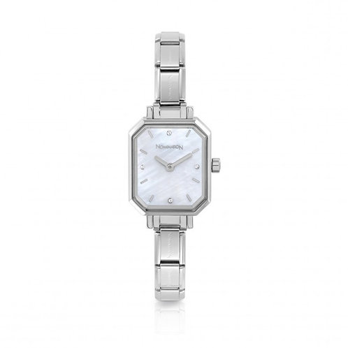 Nomination Composable Stainless Steel Mother of Pearl Dial Watch - 076030/008