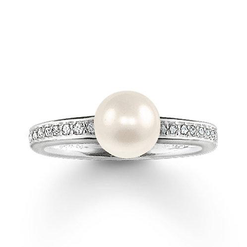 Thomas Sabo Silver Pearl Ring - TR1986-167-14