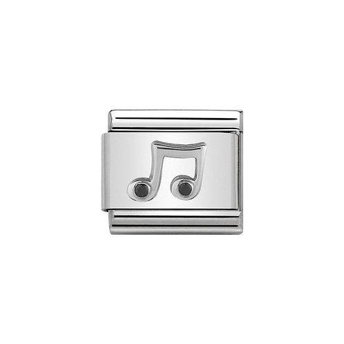 Nomination Silvershine Music Note Charm Link - 330311/08