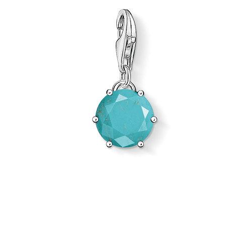 Thomas Sabo Silver Round Turquoise Charm - 1473-404-17