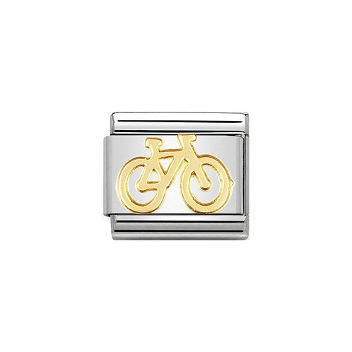 Nomination Gold Bicycle Charm Link - 030108/04