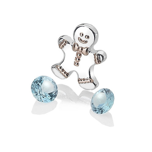 Anais by Hot Diamonds Sterling Silver Gingerbread Charm - AC106