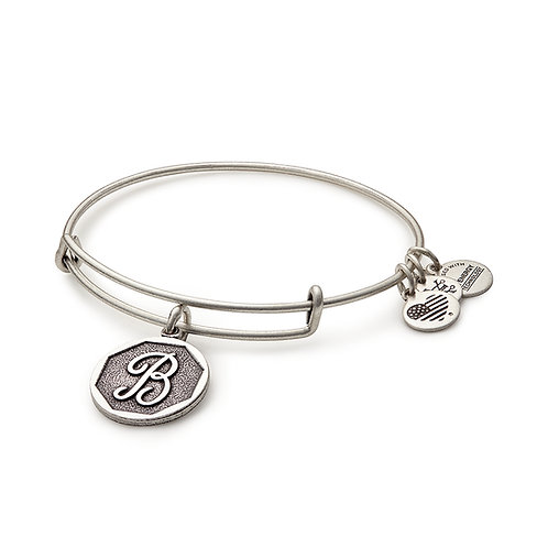 Alex and Ani Rafaelian Silver Initial B Charm Bangle - A13EB14BS
