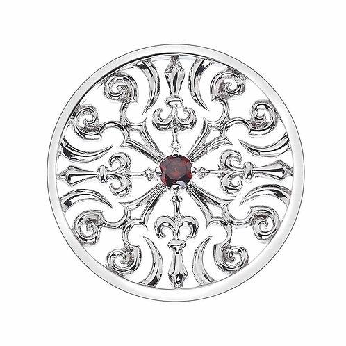 Emozioni by Hot Diamonds Victorian Red CZ Coin - EC105