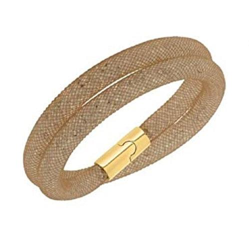 SWAROVSKI Grey and Gold Stardust Bracelet - 5089850 MEDIUM