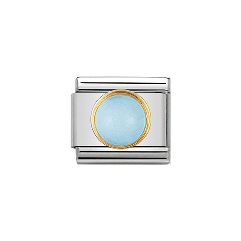 Nomination Gold Blue Turquoise Round Charm Link - 030503/06