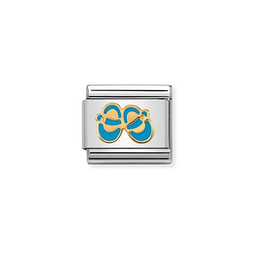 Nomination Gold Classic Blue Shoes Charm Link - 030242/38