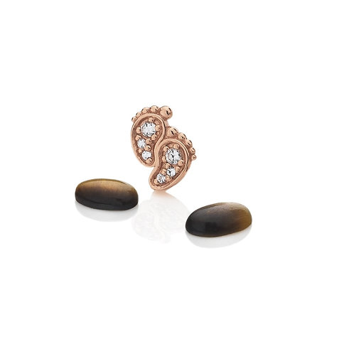 Anais by Hot Diamonds Rose Gold Pitter Patter Feet Charm - AC050