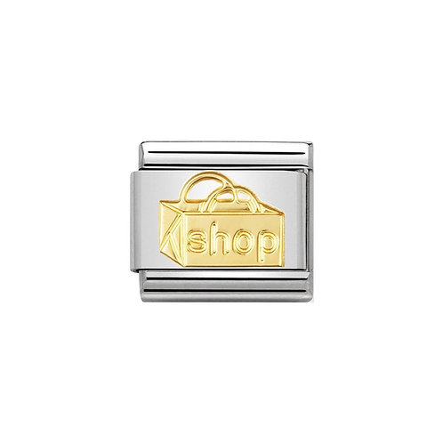 Nomination Gold Classic Shopping Bag Charm Link - 030109/22