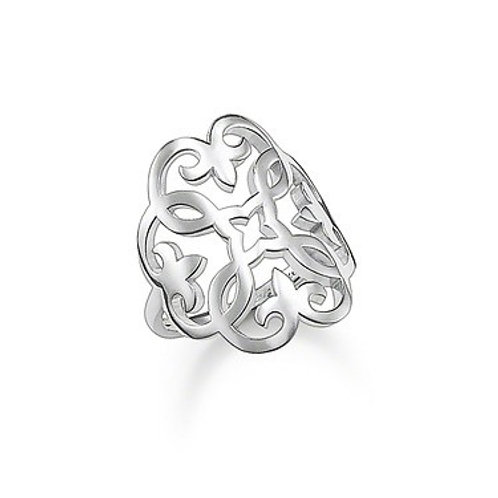 Thomas Sabo Silver Glam and Soul Ring - TR1988-001-12-54
