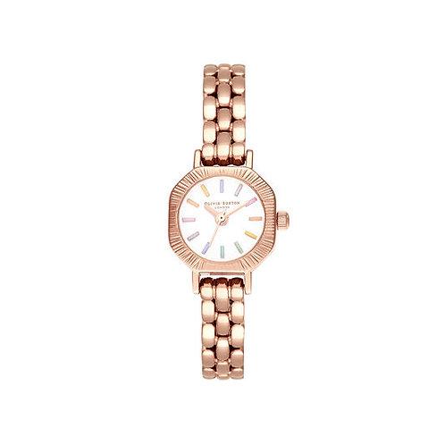 Olivia Burton Rainbow Pale Rose Gold Watch - OB16CC50