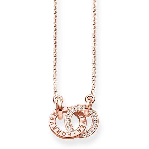 Thomas Sabo Silver rose gold Together Forever Small Necklace - KE1488-416-40