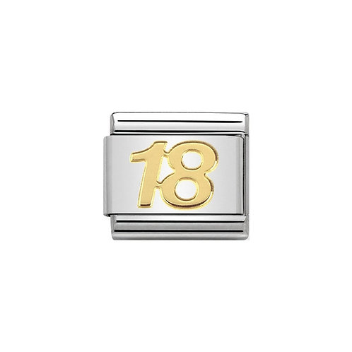 Nomination Gold 18 years Charm Link - 030109/34