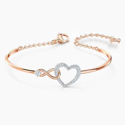 SWAROVSKI Infinity Heart Bracelet in Rose Gold Tone and Clear Crystal  - 5518869