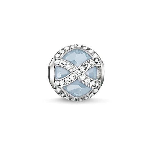 Thomas Sabo Karma Faceted Blue Maharani Stone Charm -K0145-694-31