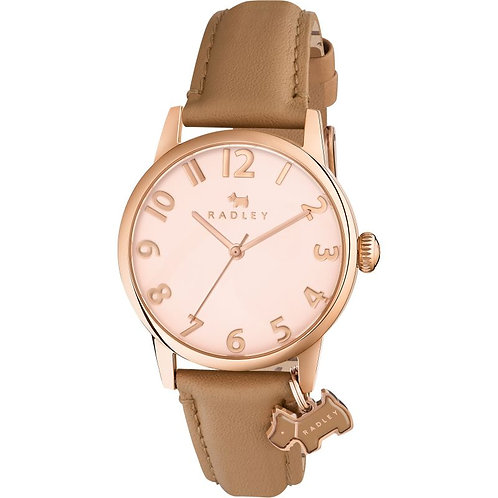 RADLEY Ladies Liverpool Street Tan Leather Strap Watch - RY2458