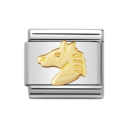Nomination Gold Horses Head Charm Link - 030112/10