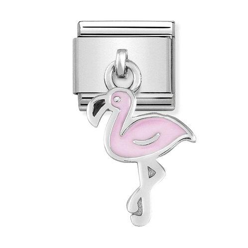 Nomination Silvershine Pink Flamingo Dangle Charm Link - 331805/12
