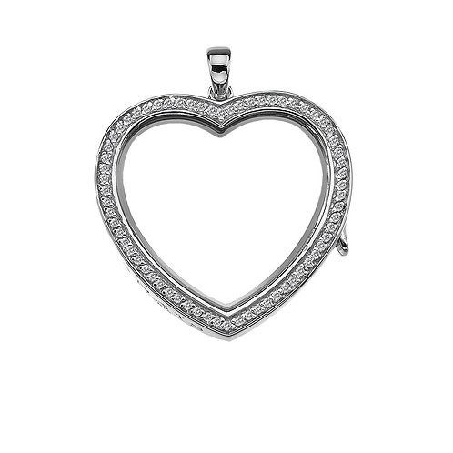 Anais by Hot Diamonds Sterling Silver Large Love Heart Locket - AL011