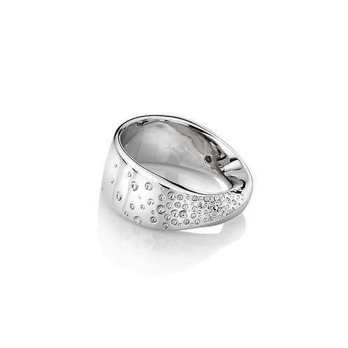 Hot Diamonds Sterling Silver Quest Twist Ring - DR219-P