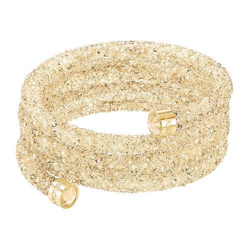 SWAROVSKI Wide Crystaldust Bracelet in GOLD  - 5292446 SMALL