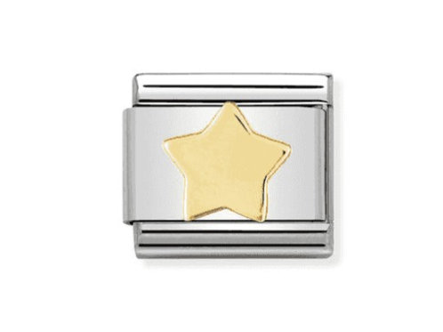 Nomination Gold Star Charm Link - 030110/17