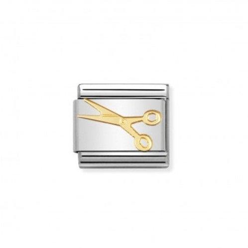 Nomination Gold Classic Scissors Charm Link - 030109/03