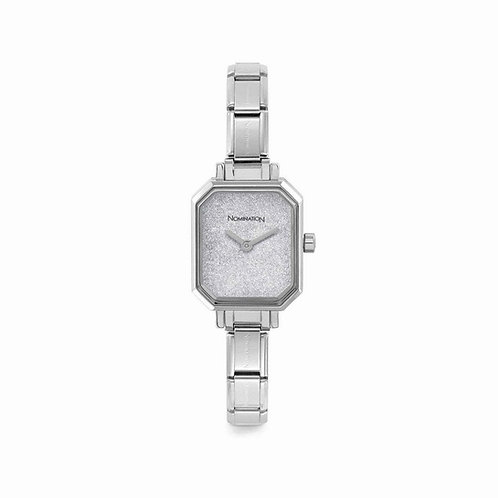 Nomination Composable Stainless Steel Silver Glitter Dial Watch - 076030/023