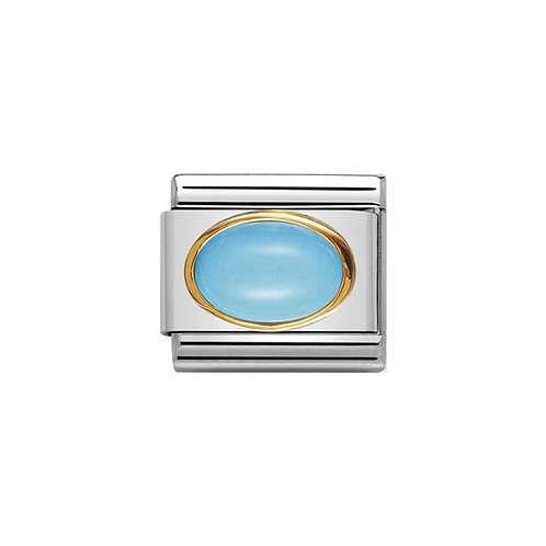 Nomination Gold Blue Turquoise Charm Link - 030502/06