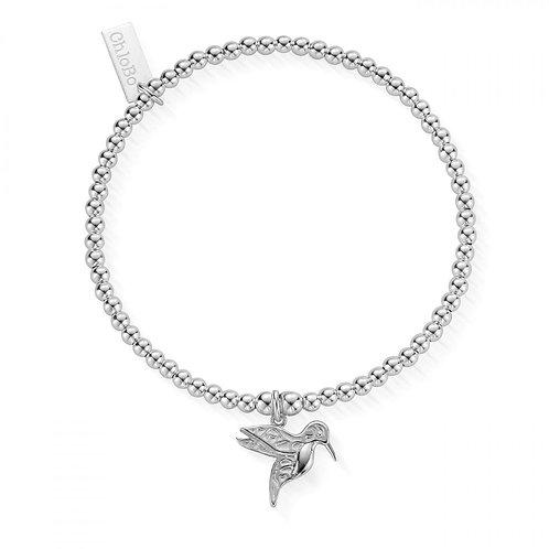 ChloBo Silver Cute Charm Humming Bird Bracelet - SBCC670