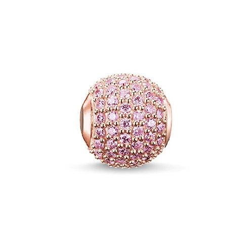 Thomas Sabo Karma Rose Gold Tone Kaori Pink Pave Charm - K0118-416-9
