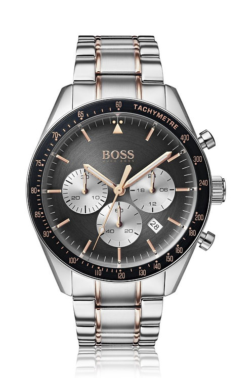 Hugo Boss Trophy Two Tone Stainless Steel Band Men's Watch - 1513634