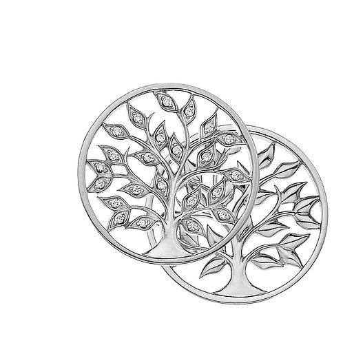 Emozioni by Hot Diamonds Reversible Balance and Harmony Coin - Tree