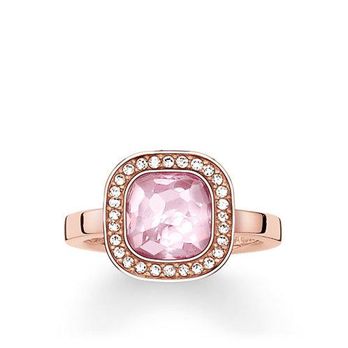 Thomas Sabo Silver Pink Cosmo Ring - TR2029-633-9-56