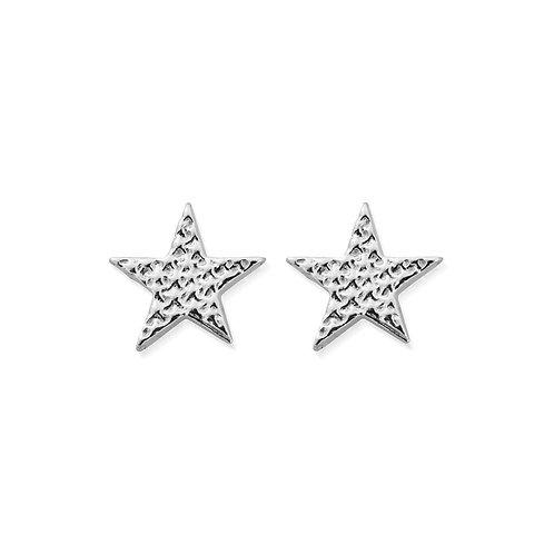 ChloBo Sterling Silver Sparkle Star Stud Earrings - SEST3077