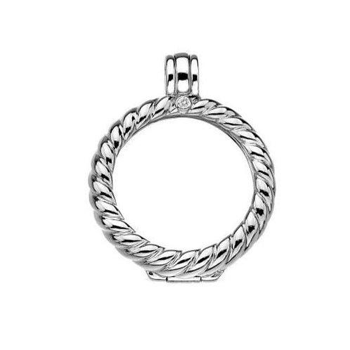 EMOZIONI Sterling Silver Twisted Rope Sorrento Keeper 33mm EK020